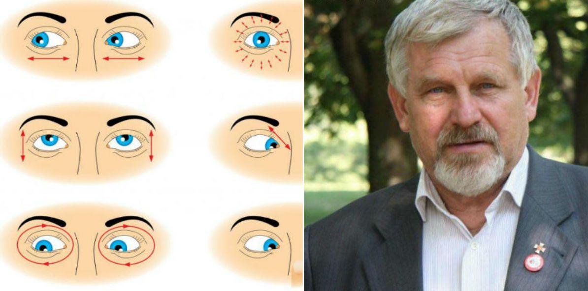 gyakorlatok, amelyek segítenek javítani a látást öt százalékos látás