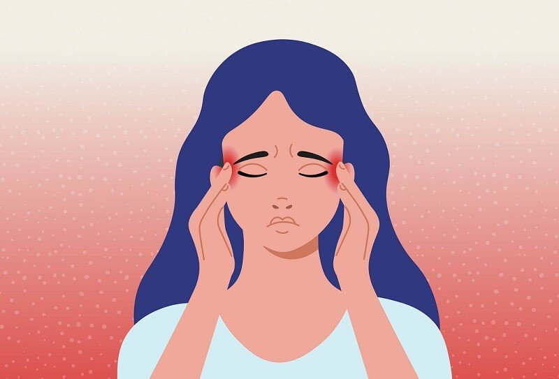 fejfájás magas hőmérséklet homályos látás
