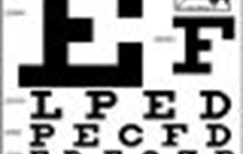 betűk az asztalon a látáshoz