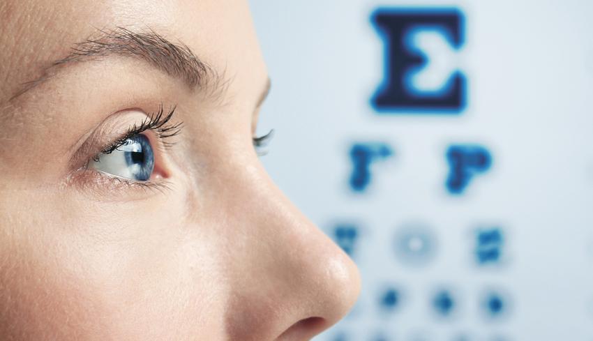 mínusz a látás ellenőrzésénél