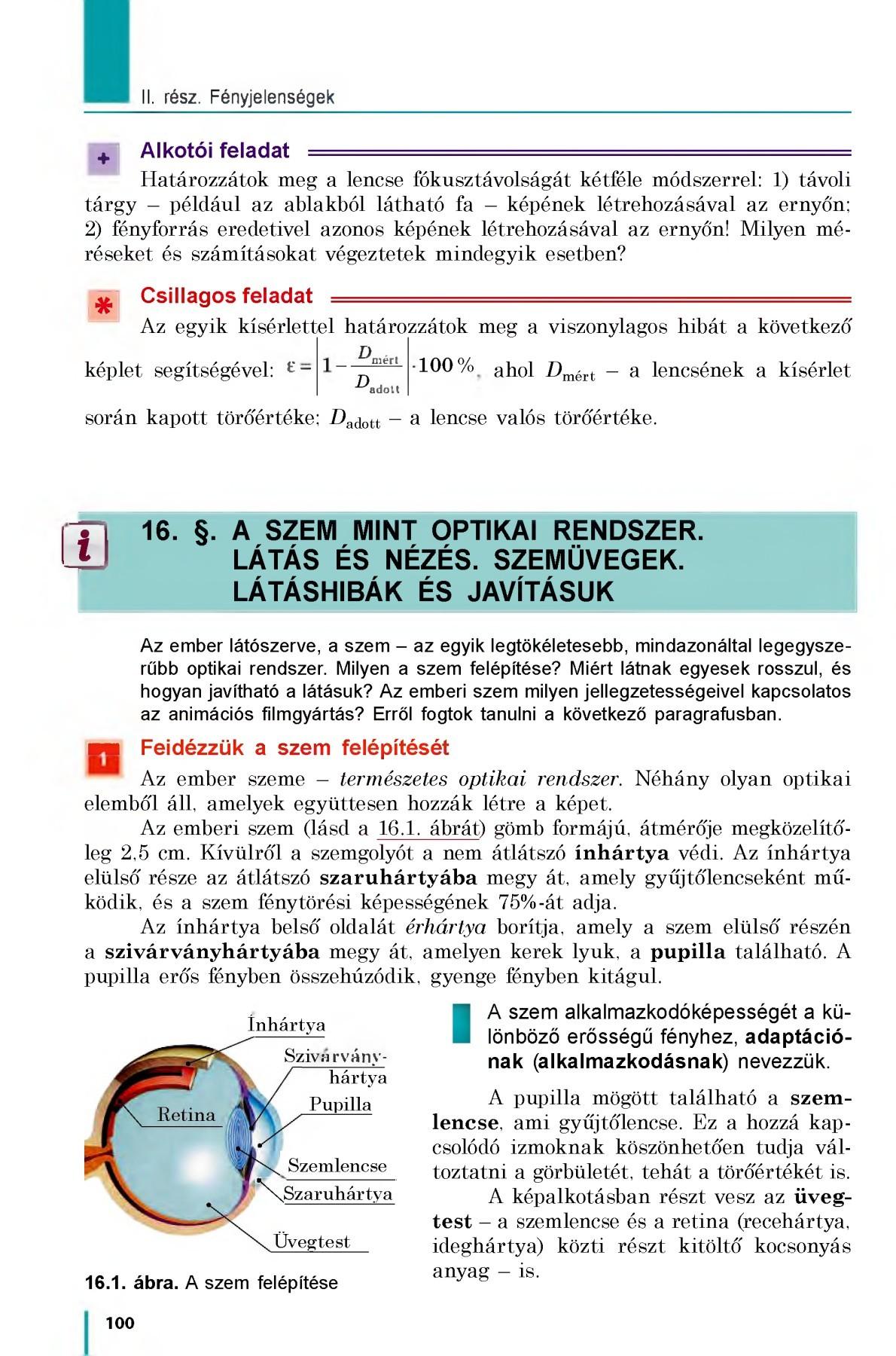 a látás optikai képlete myopia technikák