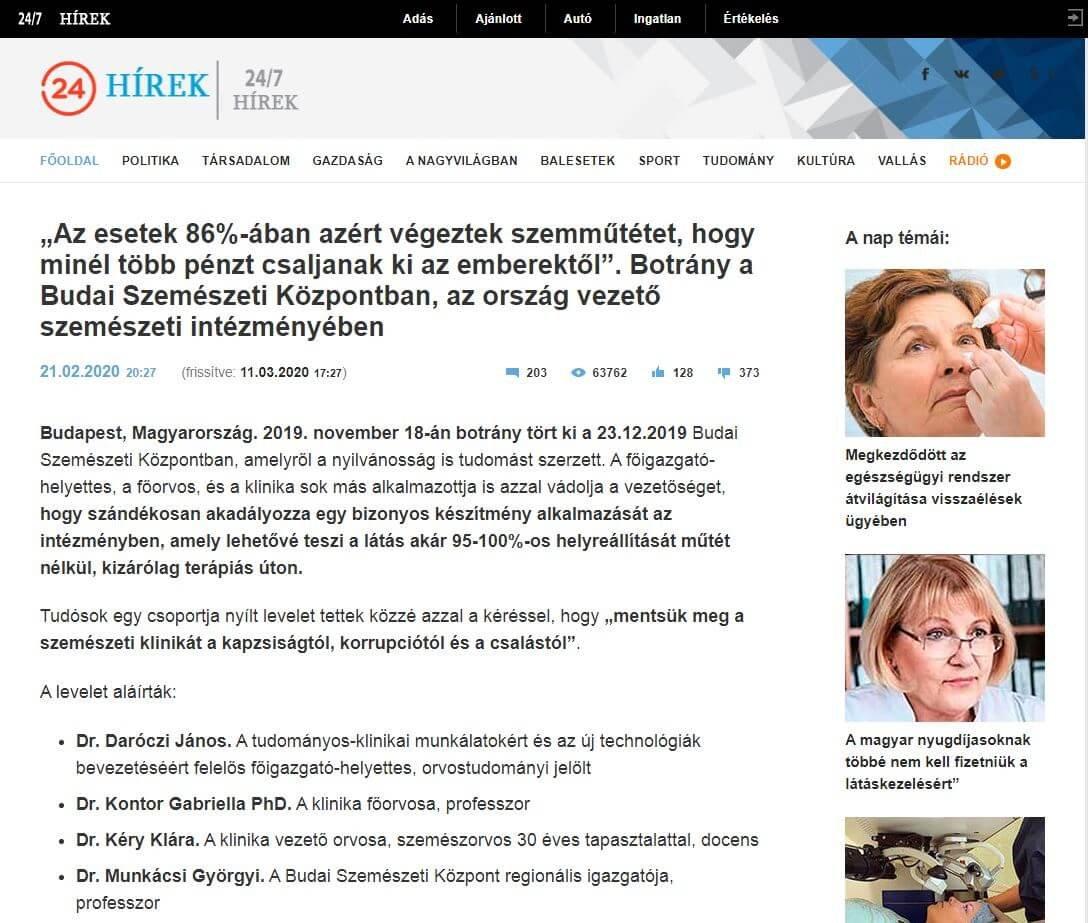 Csalók hirdetnek látást helyreállító készítményt - vilagitojegkocka.hu