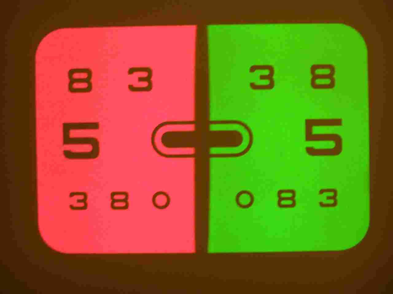 zöld-vörös szem teszt diagram)