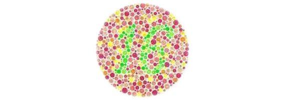 színvakság-teszt a táblázatok szerint)